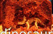 Torta de excavación dinosaurio