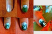 Oso de peluche en uñas
