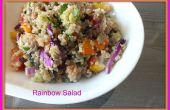 Rainbow ensalada de quinua