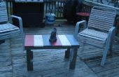 Pequeña mesa de café al aire libre