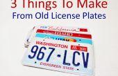 3 cosas para hacer de viejas placas
