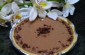 Divina la tarta de mousse de chocolate