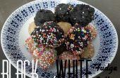Bolas de chocolate blanco y negro