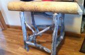 Reycycled natural Castor masticado rústica mesa de madera, el único en el mundo
