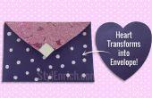 Arte de papel DIY: Aprende cómo un corazón en forma de papel en sobres hermosa en solo 5 minutos!