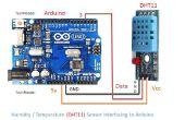 Como humedad y temperatura (DHT11) y Arduino incluyendo DHT11 biblioteca de interfaz.