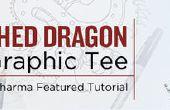 Adornado Dragon gráfico Tee