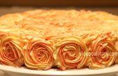 Decoración de la torta del remolino rosa -