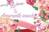 Mermelada de higos + bocaditos dulces de amaranto