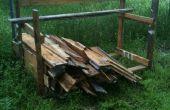 Estantes de almacenamiento vía plataforma reciclable de madera