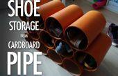 Almacenamiento de información de tubo de cartón de zapatos
