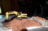 Excavadora de control remoto