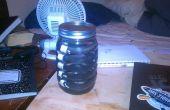 Caucho reforzado con botella de agua de la jarra de vidrio