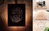 Taladro bricolaje y la madera contrachapada ilustración