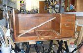 Transformar un escritorio antiguo para escritorio hobby/arte