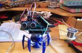 Hexagonal araña insecto con un cerebro (robot autónomo)