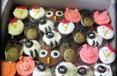 Cupcakes de animales corral