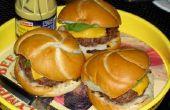 Hamburguesas de carne de tierra fresca