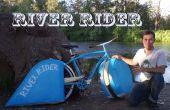 Bici del jinete del río agua