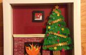 Cómo hacer una escena de Navidad Shadowbox