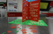 Tarjeta de Navidad grabado laser