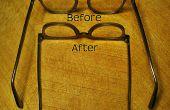Arreglar gafas sueltas con una banda de caucho
