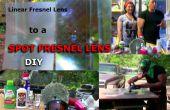 Proyección de lente de Fresnel lineal para detectar conversión