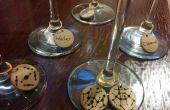 Charms de vidrio vino molécula
