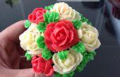 Muy florido pastel jefe Cupcakes desde cero