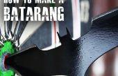 """Cómo hacer un Batarang como """"El caballero oscuro"""""""