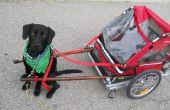 Carro de perro bricolaje tirar de un remolque de bicicleta plegable.