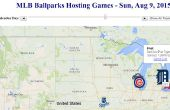 Plan de su viaje de verano de béisbol con una dinámica aplicación de mapa de la Web