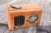 Radio vintage en un altavoz para un reproductor de MP3...