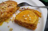 Naranja boca abajo torta en microondas