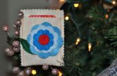 Fieltro Flores titular de la tarjeta de regalo