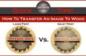 Cómo transferir una imagen a madera - láser y de inyección de tinta