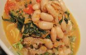 Guiso de Salchicha italiana una olla