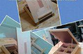 Reciclado madera boda tarjeta caballete