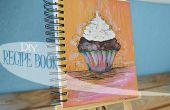 Cómo hacer un libro de recetas pintado de mano