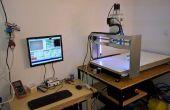Máquina del CNC con cámara y luz de fondo LED