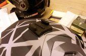 Montaje GoPro modificación irregular forma cascos Fox, Fly y otros.