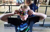 Máscaras de papel con los ojos de LED con Conductak!
