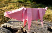 Origami de papel de impresión fácil cerdo
