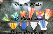 Cómo hacer aviones de papel impresionante 10!