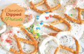 Cómo hacer Pretzels Chocolate sumergido - regalos comestibles de último minuto