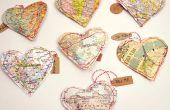 Mapa de San Valentín corazón tratar bolsas