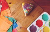 Derretida torta de goteo de pintura arco iris