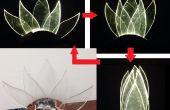 Lámpara móvil: flor de loto