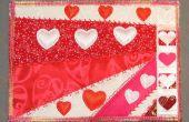 Día de San Valentín postales de tela