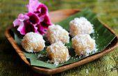 Pastel de yuca con coco rallado
